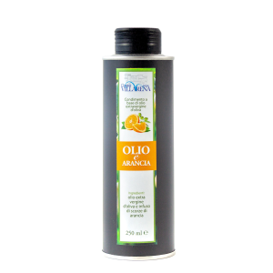 Extra virgin olive oil with orange in can