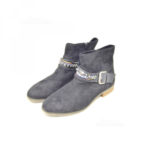 Ankle Boots Woman Graceland Black Studs Etniche N° 42