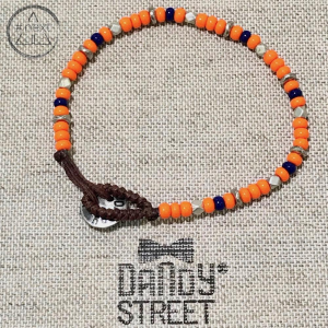 Dandy Street - Bracciale perline vetro. Arancio