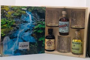 La Valdotaine - Negrone Alpino 3 bottiglie ML.200 + 3 bicchieri