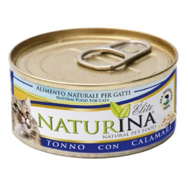 NATURINA ELITÉ GATTO TONNO CON CALAMARI 70 GR