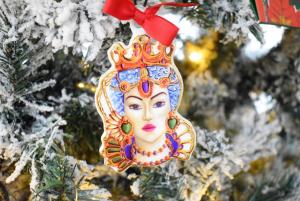 Testa di Moro Donna decorazione albero Baci Milano Le gioie gio3