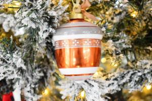 Ghianda decorazione albero Baci Milano Copper