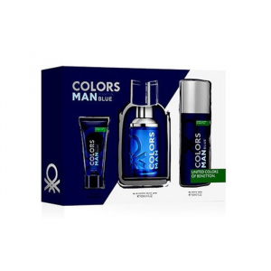 Benetton Color Man Blue Eau De Toilette Spray 100ml Set 3 Parti 2020