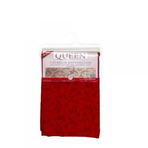 Tovaglia tavolo elegante Jacquard rosso bordeaux 140x180