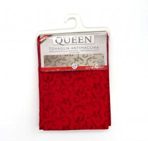 Tovaglia Queen Jacquard quadra 140x140 rosso bordeaux