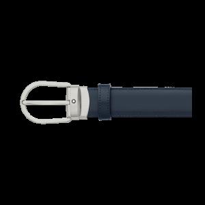 Cintura Montblanc con fibbia ad ardiglione a ferro di cavallo in titanio opaco