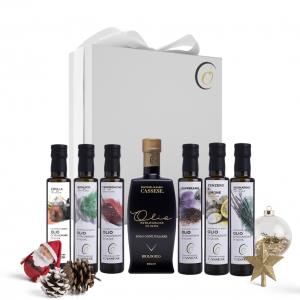 Confezione regalo olio extravergine di Oliva Bio e aromatizzati assortiti 100% Italiano - Frantoio oleario Cassese