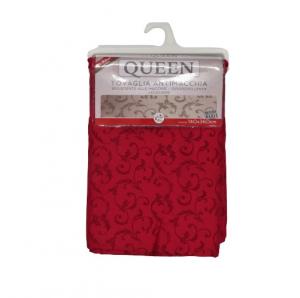 Tovaglia Queen Jacquard antimacchia 140x360 rosso bordeaux