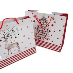Borsa regali di Natale in cartone 45x33x12
