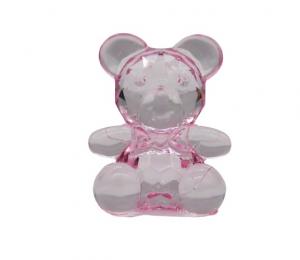 Orsetto rosa decoro sacchetto bomboniere