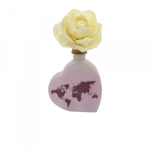 Diffusore profumo cuore con fiore melograno 200ml