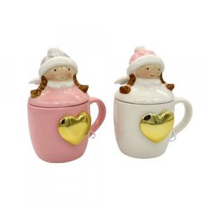 Tazza mug angelo con cuore oro colori assortiti