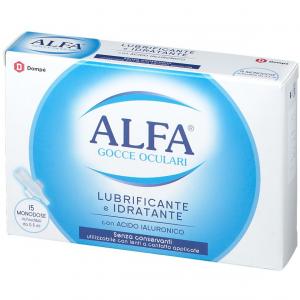 Alfa gocce oculari lubrificante e idratante 15fl x 0.5ml