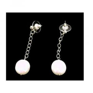 Orecchini made in Italy perle cerate bianco