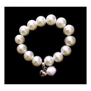 Bracciale bianco con ciondoli made in Italy perle cerate