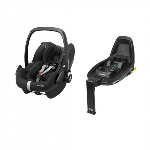 Ovetto Pebble Pro black Maxi Cosi + Base isofix