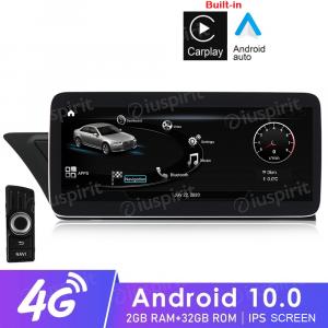 ANDROID navigatore per Audi A4 A5 S5/RS4/RS5/8K/B8/8T/4L 2008-2016 10.25 pollici 2GB RAM 32GB ROM Octa-Core CarPlay Android Auto Bluetooth GPS WI-FI