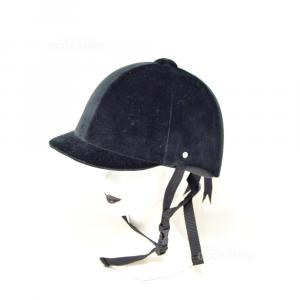 Cappello Da Cavallerizza Fouganza Nero Velluto Tg.54
