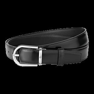 Cintura Montblanc con fibbia ad ardiglione rivestita in palladio lucido