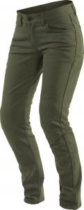Pantaloni moto donna Dainese Classic Slim Lady Verde Oliva