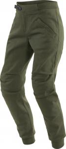 Pantaloni moto donna Dainese Trackpants Lady Verde Oliva