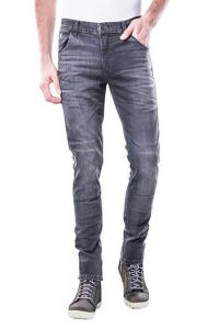 Jeans moto Motto MILANO con rinforzi in fibra aramidica Grigio