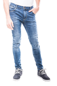 Jeans moto Motto MILANO con rinforzi in fibra aramidica Blu Chiaro