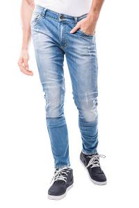 Jeans moto Motto IMOLA LONG con rinforzi in fibra aramidica Blu Chiaro