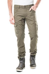 Pantaloni moto Motto HELIOS con rinforzi in fibra aramidica Verde