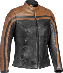 Giacca moto donna pelle Ixon PIONEER LADY marrone camel