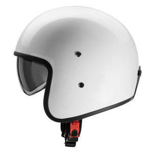 Casco jet Carburo Urban Class in fibra Bianco