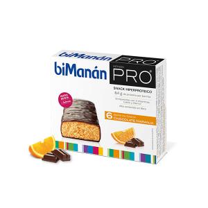 Bimanán Barrita Chocolate Naranja 6 Units
