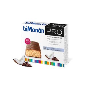 Bimanán Bimanan Pro Cioccolato Al Cocco Bar 6 Piezas