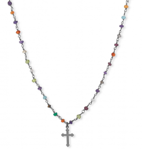 Collana Romance con Agata multicolor