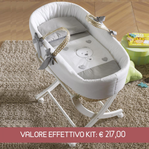 Kit Cesta porta enfant Moon e base bianca