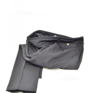 Trousers Woman Black Elisabetta Franchi Size 38