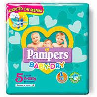PANNOLINI BABY DRY TG 5 11-25Kg