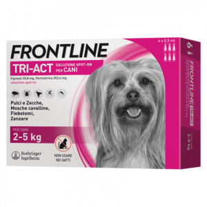 FRONTLINE TRI-ACT SPOT-ON 2-5 kg. 3x0,5ml - SCADENZA 31/05/2021