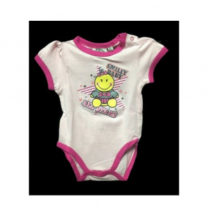 Body 6 18 mesi neonata Smiley Baby manica corta