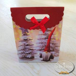 Sacchetto regalo Gnometto con albero piccolo