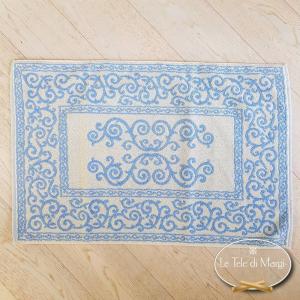 Tappeto barocco doubleface azzurro