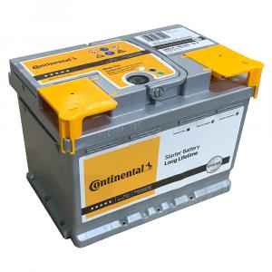 Batteria Continental 60Ah 580A 12v POSITIVO A DESTRA 2800012030280