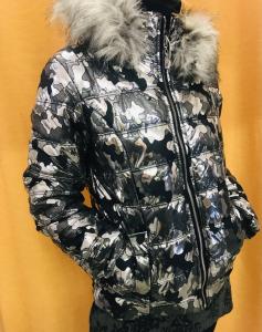 Piumino camouflage metallizzato