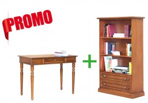 [L'ufficio in casa] - Scrittoio + piccola libreria con 2 cassetti