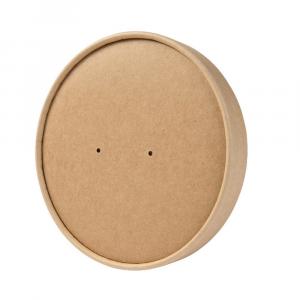 Coperchi in cartoncino avana per cibi caldi per ciotole 400-650ml