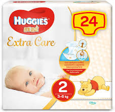 HUGGIES EXTRA CARE 2 BASE 3-6kg x24pz