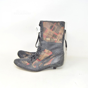Ankle Boots Real Woman Leather N° 37 Kowalski Made In Venice