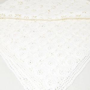 Centirno Bianco A Uncinetto Fatto A mano 70x80 Cm