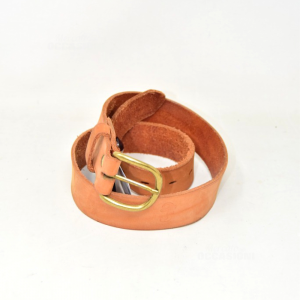 Belt Woman Chambers In True Leather Brown 90cm